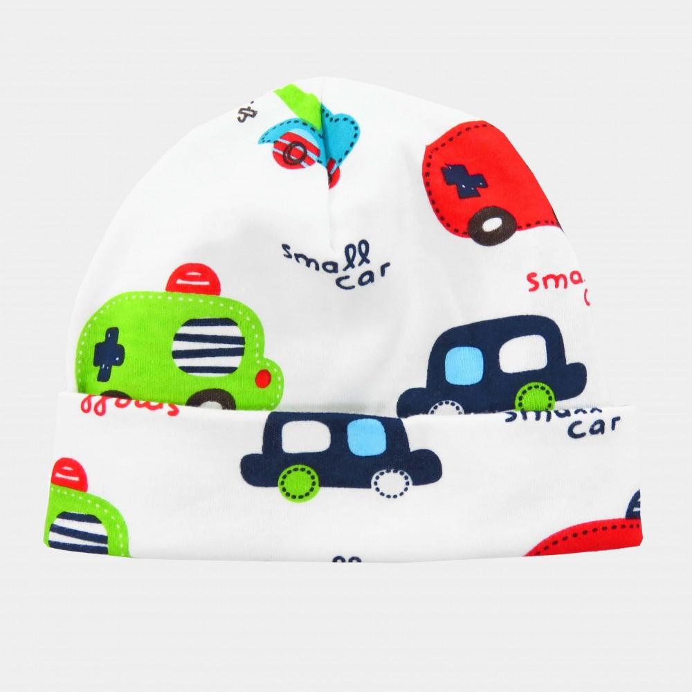 LUKE - berretto neonato con stampa macchinine