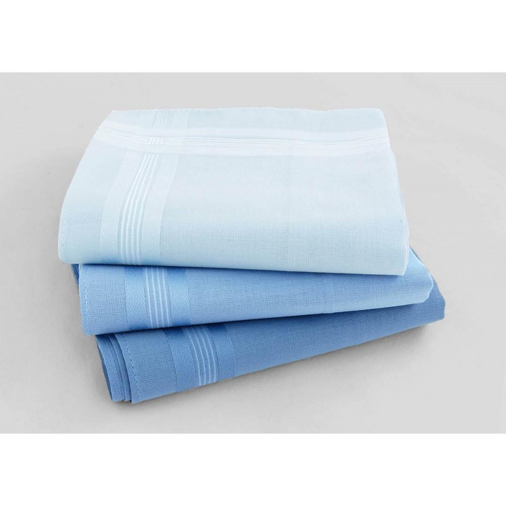 Varianti - Pastello - fazzoletti di cotone da uomo tinta unita nelle varianti dell'azzurro