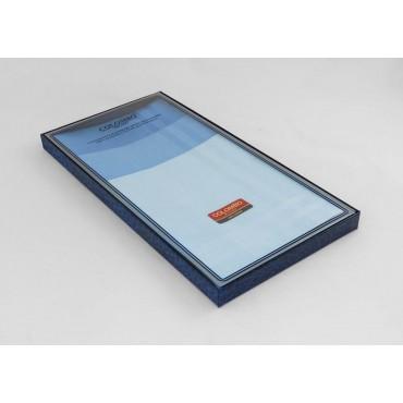 Scatola laterale - Pastello - fazzoletti di cotone da uomo tinta unita nelle varianti dell'azzurro