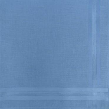 Variante azzurro scuro - Pastello - fazzoletto di cotone da uomo tinta unita