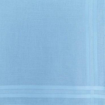 Variante azzurro - Pastello - fazzoletto di cotone da uomo tinta unita