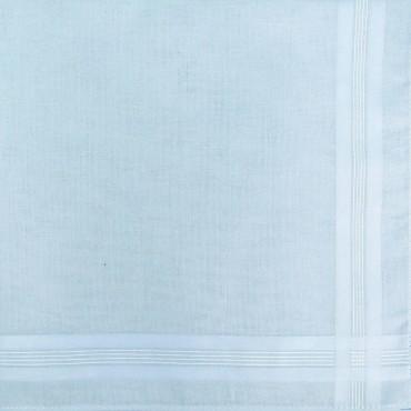 Variante azzurro polvere - Pastello - fazzoletto di cotone da uomo tinta unita