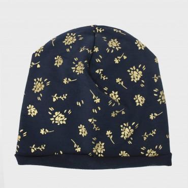 BlueTaylor - girl's cap with golden floral print