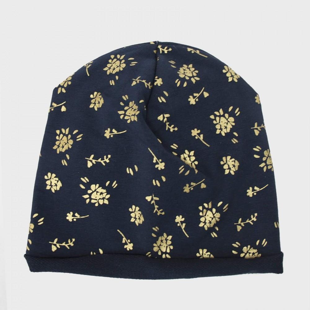blu Taylor - berretto bambina stampa floreale dorata