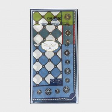Scatola frontale - Planet - fazzoletti di cotone con stampe barocche