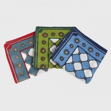distesi - Planet - fazzoletti di cotone con stampe barocche