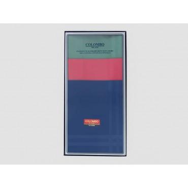 Scatola frontale - Pastello - fazzoletti di cotone da uomo tinta unita con colori forti