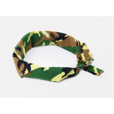 Rolled up - Camouflage - cotton bandana with camouflage print