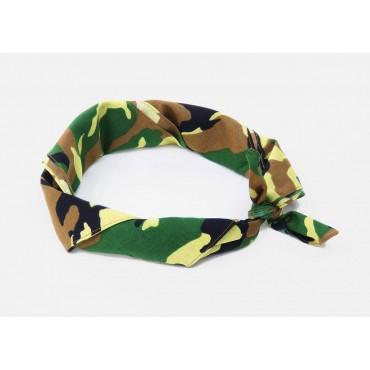 Arrotolata - Camouflage - bandana di cotone con stampa mimetica