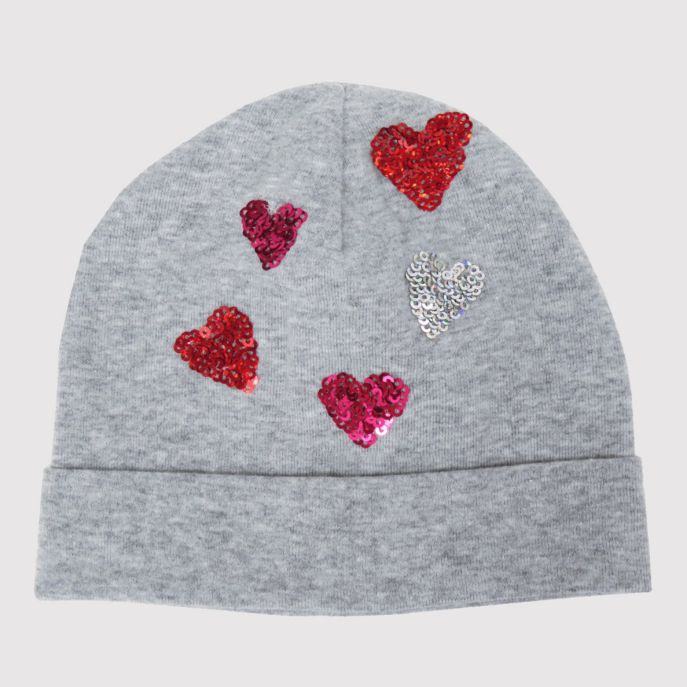 Sofia - baby hat with sequin hearts