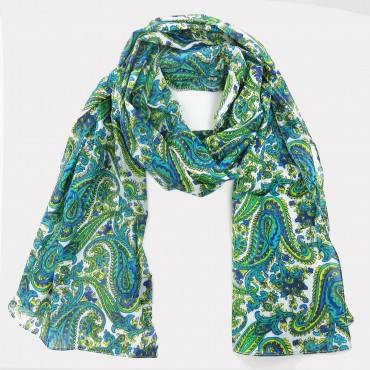 Colored cashmere printed scarf with see-through clutch bag