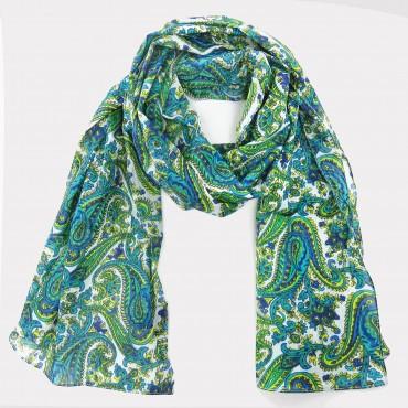 Sciarpa stampa cachemire colorata con pochette in omaggio