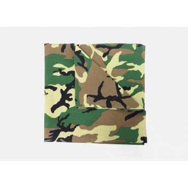 Detail - Camouflage - cotton bandana with camouflage print
