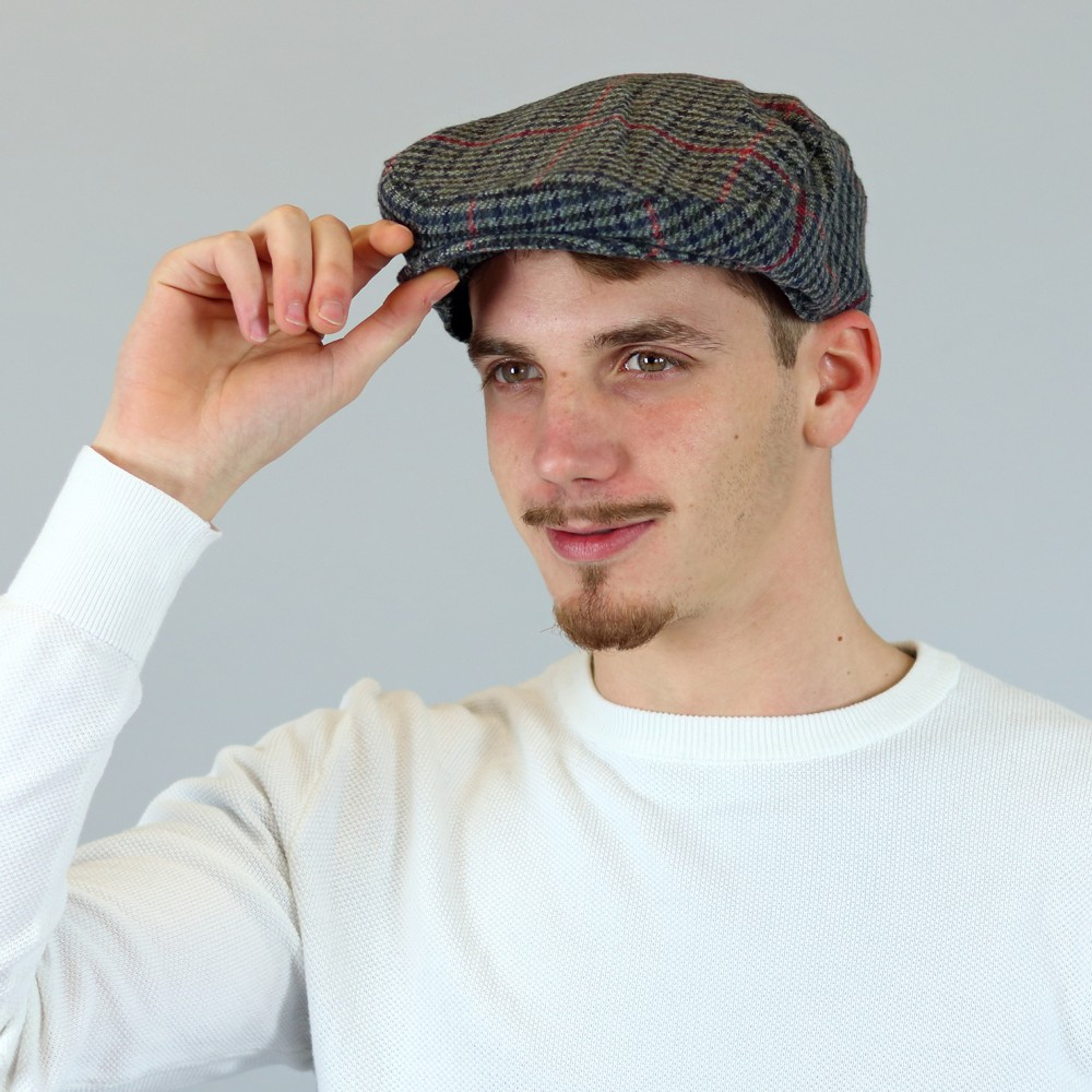 One size flat cap with wool finishing GREY