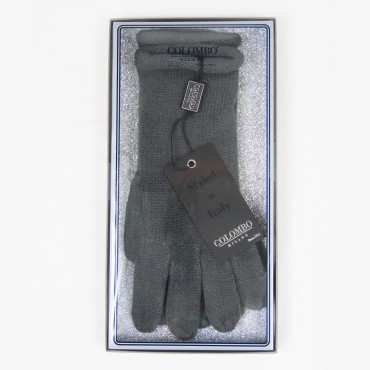 Extra soft women's gloves in gift box with glitter background gray