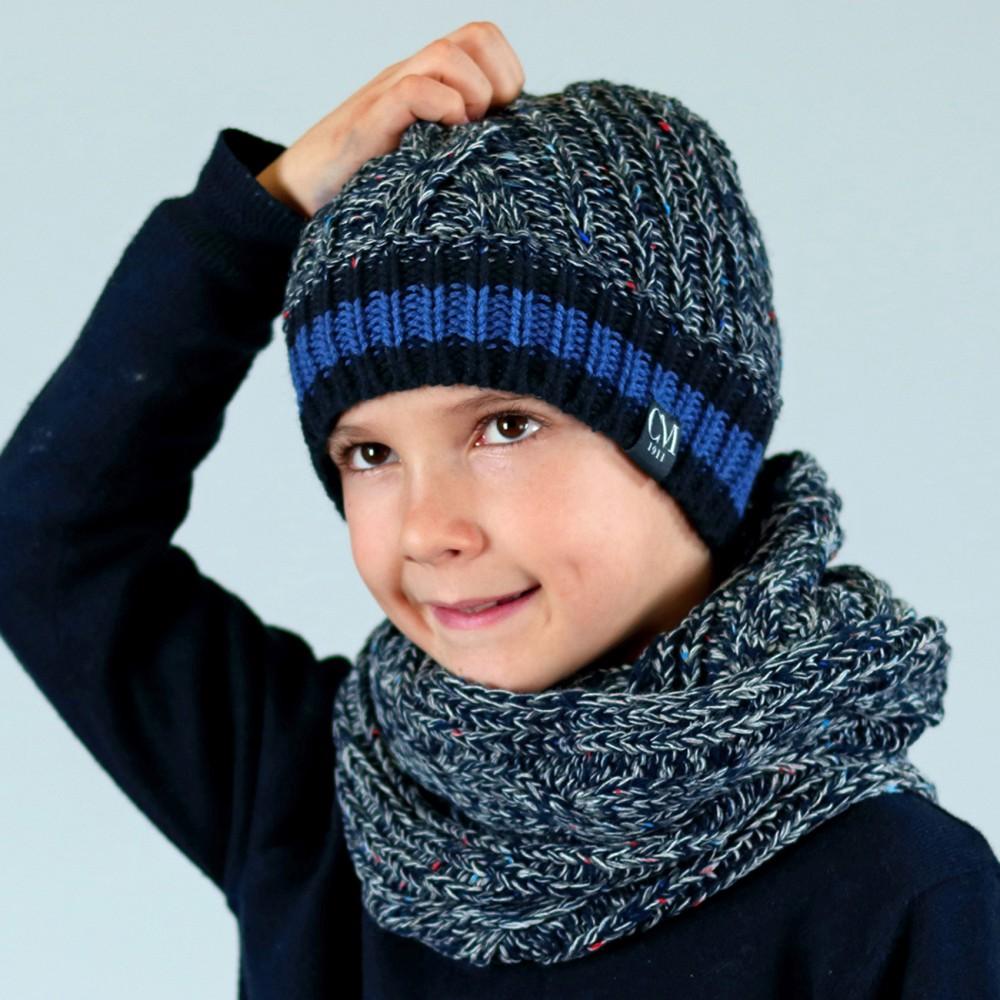 Soft Kid's set with knop yarn - 4/8 ys