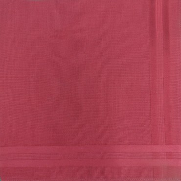 Pastello - rosso - fazzoletto di cotone da uomo tinta unita.