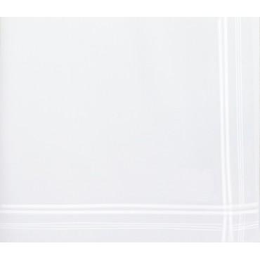 Versailles - white handkerchiefs with  intertwining satin stripes - detail