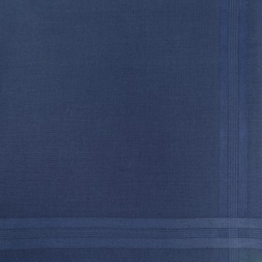 Pastello - solid color handkerchiefs in 3 different dark colors with satin stripes - blue detail