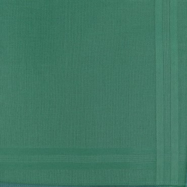 Pastello - solid color handkerchiefs in 3 different dark colors with satin stripes - green detail