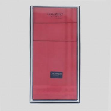 Scatola frontale - Pastello - fazzoletti di cotone da uomo tinta unita rossi.