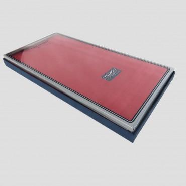 Scatola laterale - Pastello - fazzoletti di cotone da uomo tinta unita rossi.
