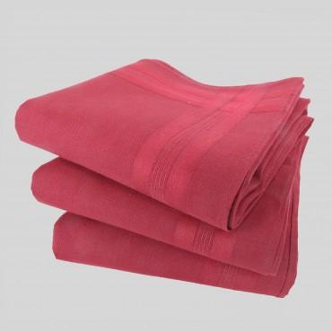 Varianti - Pastello - fazzoletti di cotone da uomo tinta unita rossi.