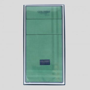 Scatola frontale - Pastello - fazzoletti di cotone da uomo tinta unita verdi.
