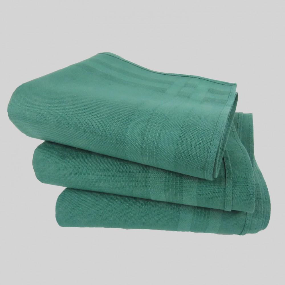 Varianti - Pastello - fazzoletti di cotone da uomo tinta unita verdi.