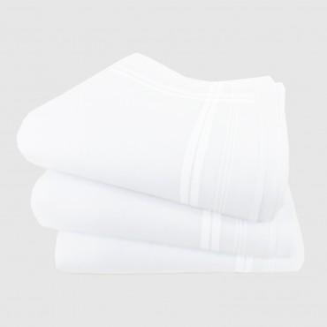 Versailles - white handkerchiefs with  intertwining satin stripes