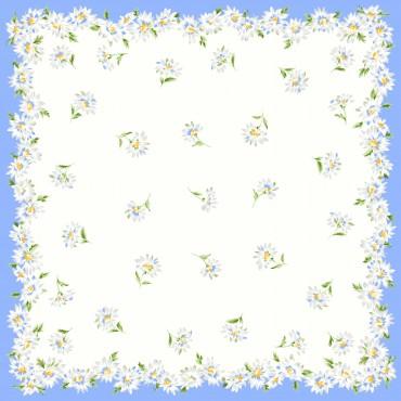Virginia blue detail - handkerchiefs with daisy pattern