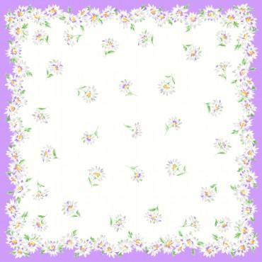 Virginia lilac detail - handkerchiefs with daisy pattern