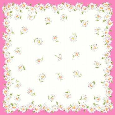 Virginia pink detail - handkerchiefs with daisy pattern