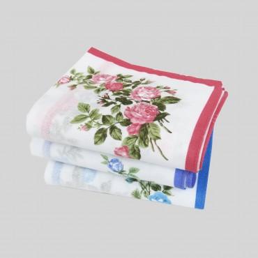 Virginia - handkerchiefs with rose pattern