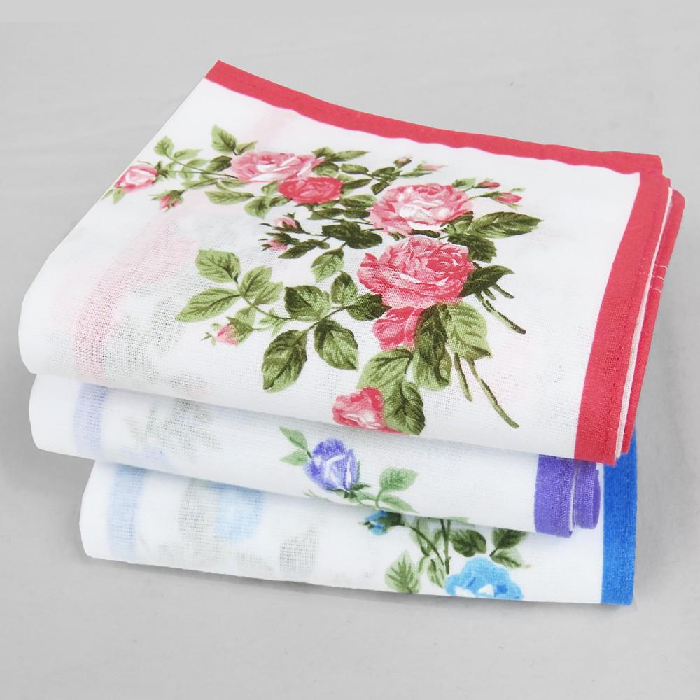 Varianti - Virginia - fazzoletti di cotone da donna con fantasia di rose