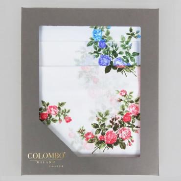 Scatola - Virginia - fazzoletti di cotone da donna con fantasia di rose