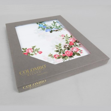 Virginia - handkerchiefs with rose pattern - side box