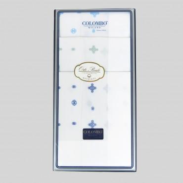 Lord - fazzoletti bianchi con motivi cravatteria - scatola fronte