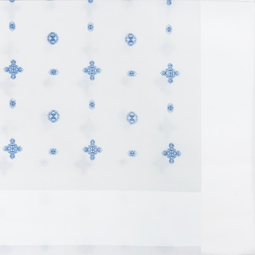 Lord - fazzoletti bianchi con motivi cravatteria - dettaglio