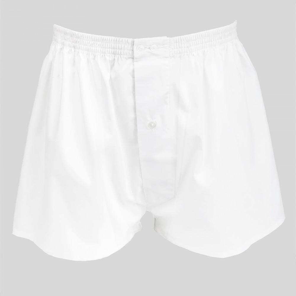Boxer da uomo bianco in popeline - 100%cotone - tg 3(S)