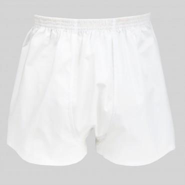 Boxer da uomo bianco in popeline - 100%cotone - tg 3(S) retro