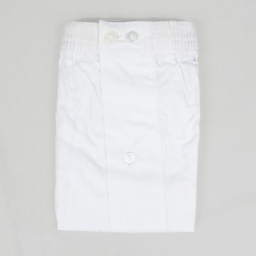 Boxer da uomo bianco in popeline - 100%cotone - tg 3(S) piegato