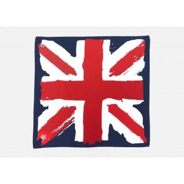 Modello - UK - bandana di cotone con bandiera inglese vintage stampata