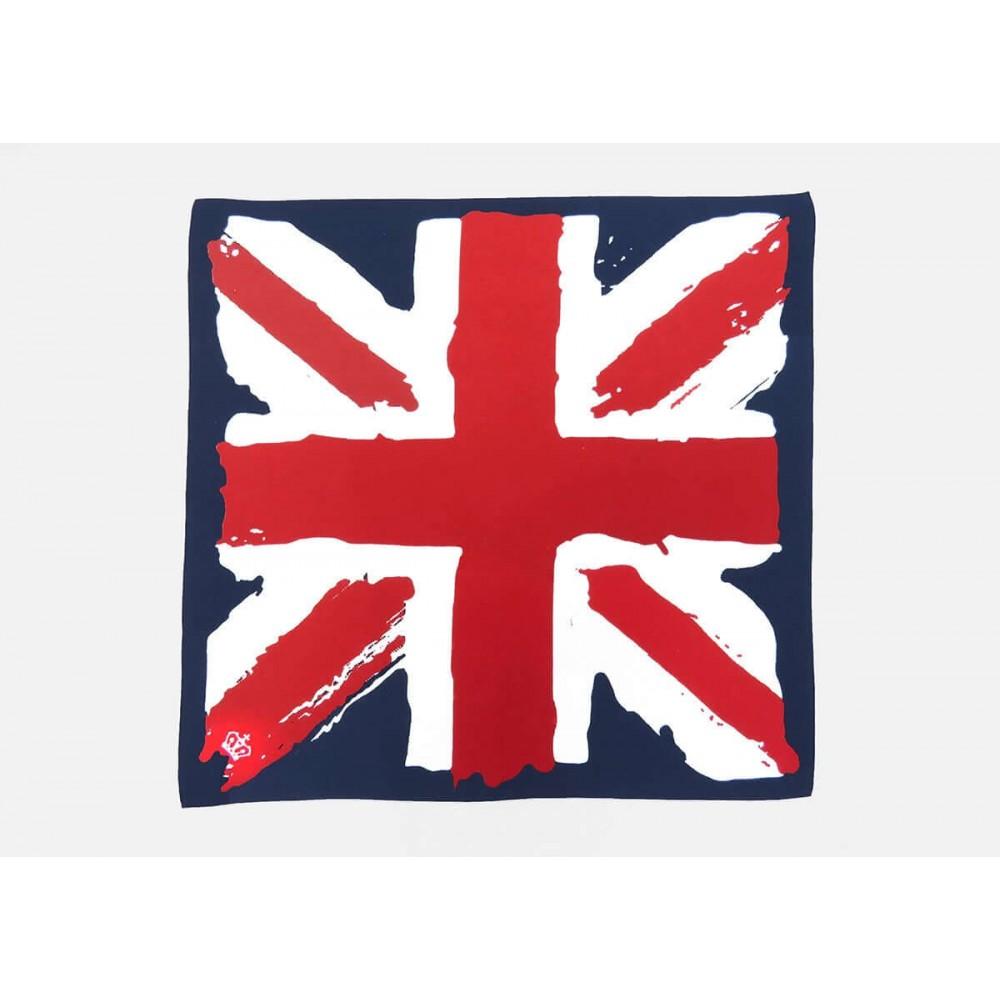 Model - UK - cotton bandana with vintage printed English flag