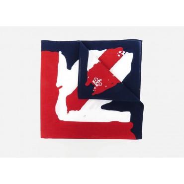 Detail - UK - cotton bandana with printed vintage English flag