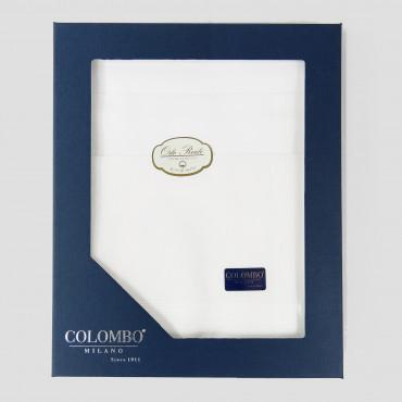 Oxford dozzina dis. 4 - fazzoletto di cotone bianco da uomo con incrocio di righe fini di raso e Orlo Roulè