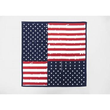 Modello - USA - bandana di cotone con bandiera americana vintage stampata