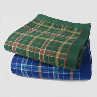 Scozia - checkered handkerchiefs with warm colored stripes