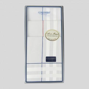 Sangallo scatola fronte - fazzoletti con spesse righe di raso e Orlo a Mano