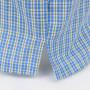 Spacchi laterali - Kent - Boxer da uomo in popeline a quadretti azzurri e gialli - 100% cotone taglie forti
